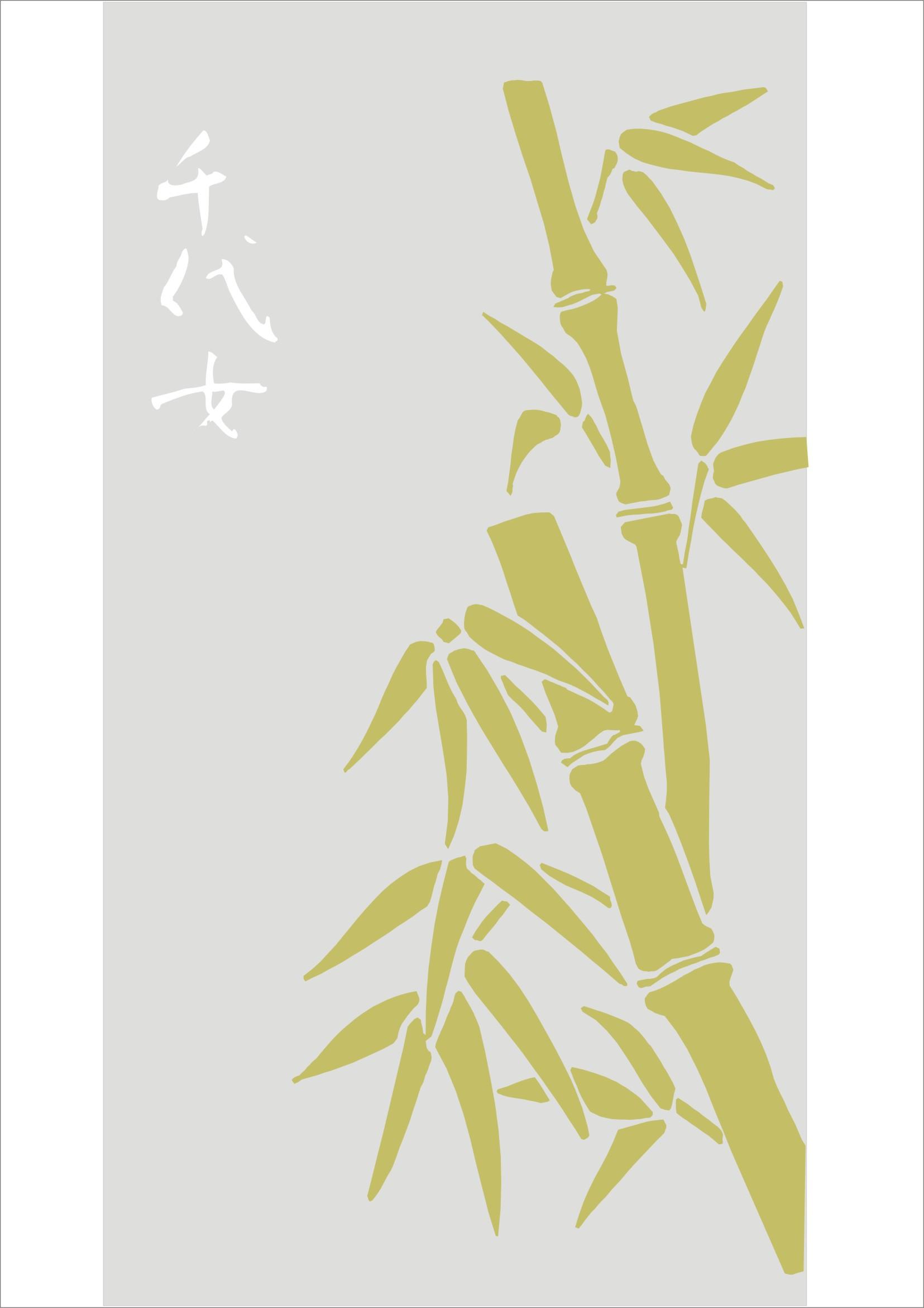 Бамбук рисунок пескоструй